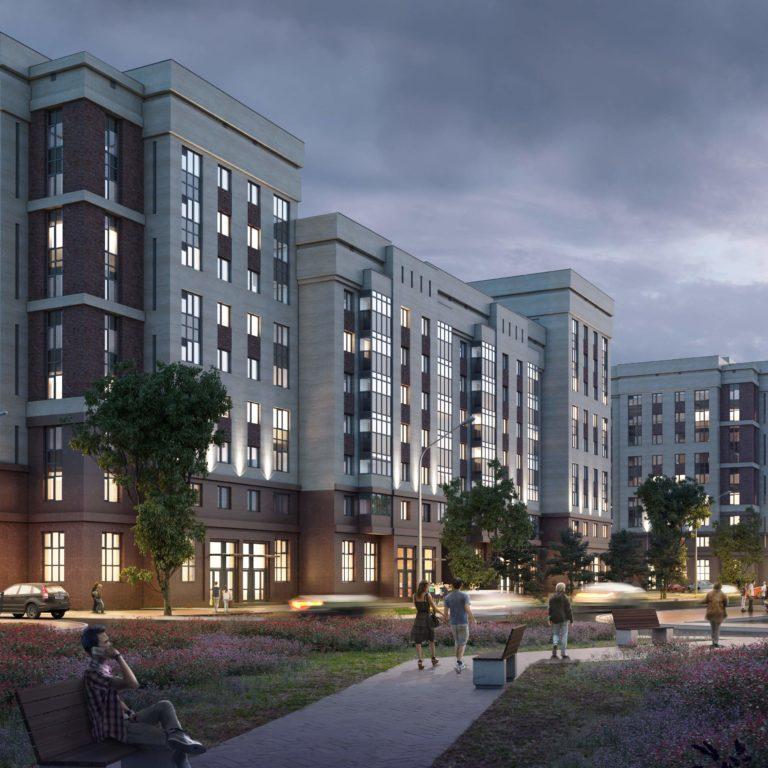 Визуализация жилого комплекса Gpark